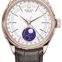 Rolex Cellini Moonphase Růžové zlato 39mm Bílá