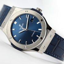 Hublot Titanium Automatic Blue No numerals 42mm new Classic Fusion Blue