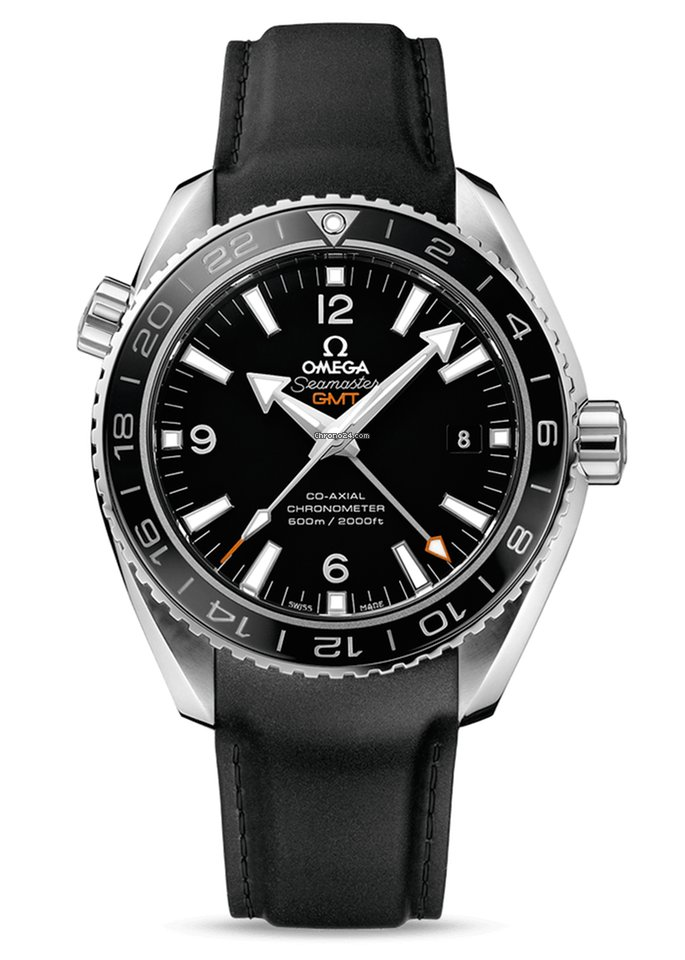 Omega Seamaster Planet Ocean Co-Axial GMT Stainless Steel... for ... c5326abf72