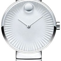 Movado Edge Staal 34mm Zilver