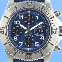 Breitling Superocean Chronograph Steelfish pre-owned 44mm Blue Chronograph Date Rubber