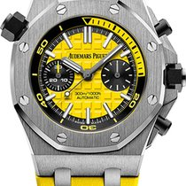 Audemars Piguet Steel Automatic Yellow 42mm pre-owned Royal Oak Offshore Diver Chronograph