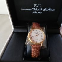 IWC Yellow gold Automatic White 34mm new Portofino Automatic