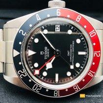 Tudor Black Bay GMT Stahl 41mm Schwarz Keine Ziffern