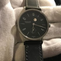 NOMOS Tangente Gangreserve pre-owned 35mm Black Leather
