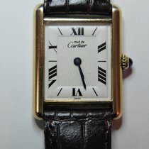 Cartier Cеребро Кварцевые Белый Римские 30mm X 23mmmm подержанные