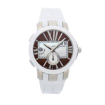 Ulysse Nardin Executive Dual Time Lady pre-owned 40mm Brown Date GMT Crocodile skin