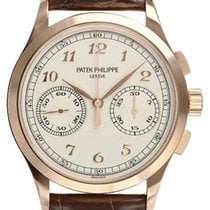 Patek Philippe Rose gold Manual winding Silver Arabic numerals 39.4mm new Chronograph