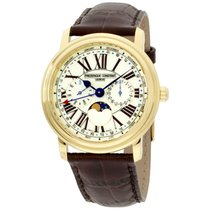 Frederique Constant Classics Business Timer Gold/Steel 40mm Roman numerals United States of America, New Jersey, Somerset