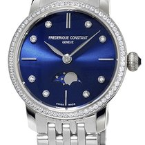 Frederique Constant Slimline Moonphase Steel Blue United States of America, New York, Brooklyn
