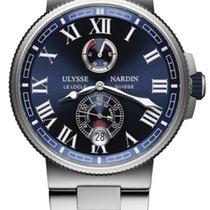 Ulysse Nardin Marine Chronometer Manufacture 1183-126-7M/43 Ulysse Nardin Marino Acciaio Blu Cronometro new