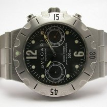 Bulgari Scuba Chronograph Automatic Steel Watch Scb 38 S R-6,300