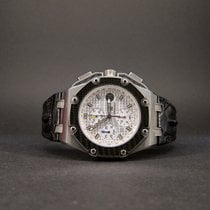 Audemars Piguet Titanium Automatic Silver No numerals 44mm pre-owned Royal Oak Offshore Chronograph