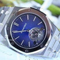 Audemars Piguet Titanium Automatic Blue No numerals 39mm new Royal Oak Tourbillon