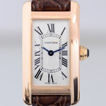 Cartier Tank Americaine Lady 18K Gold Klassik Dresswatch Top Rosé
