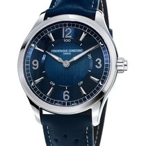 Frederique Constant Horological Smartwatch Steel 42mm Blue Arabic numerals