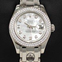 Rolex Pearlmaster Złoto białe 29mm Masa perłowa