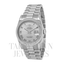 Rolex White gold Automatic Roman numerals 36mm pre-owned Day-Date 36