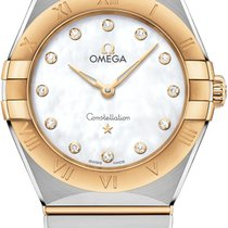 Omega Constellation Gold/Steel 28mm Mother of pearl