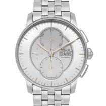 Mido Baroncelli Chronograph Stahl 43mm Silber