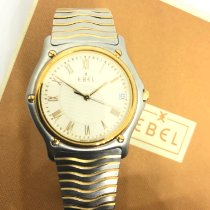 Ebel Gold/Steel 35mm Quartz Ebel wave gentleman pre-owned Singapore, Singapore