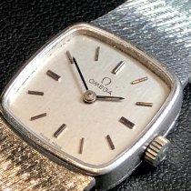 Omega Weißgold Handaufzug Silber Keine Ziffern 20mm gebraucht