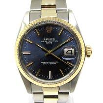 Rolex Oyster Perpetual Date Acero y oro 34mm Azul Sin cifras España, Marbella