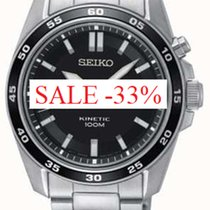 Seiko Kinetic Steel Black