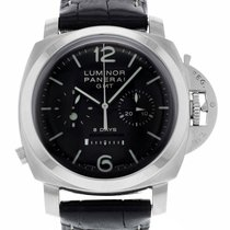 Panerai Luminor 1950 8 Days Chrono Monopulsante GMT Steel 44mm Black Arabic numerals United States of America, New York, Greenvale