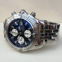 Breitling Chronomat Evolution Chronograph Pilot Steel Black...