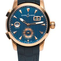 Ulysse Nardin Classic Dual Time 18K Rose Gold Men's Watch