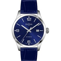 Davosa Gentleman Steel 40mm Blue Arabic numerals