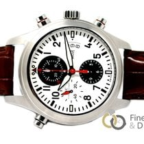 IWC Pilot Double Chronograph Acero 44mm Blanco Árabes España, Madrid