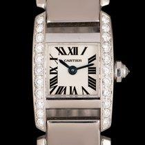 Cartier Tank (submodel) White gold 20mm Silver Roman numerals