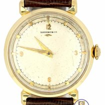 Hamilton Yellow gold Manual winding Silver Arabic numerals 30mm pre-owned