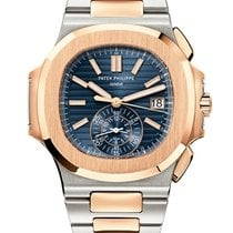 Patek Philippe Nautilus Gold/Steel 40.5mm Blue No numerals United States of America, New York, New York
