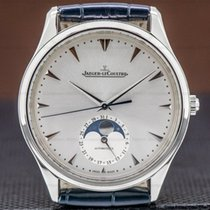 Jaeger-LeCoultre Steel Automatic Silver 39mm pre-owned Master Ultra Thin Moon