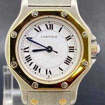 Cartier Santos (submodel) Or/Acier 25mm Blanc
