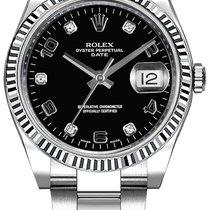 Rolex Oyster Perpetual Date nouveau 2019 Remontage automatique Montre avec coffret d'origine et papiers d'origine 115234