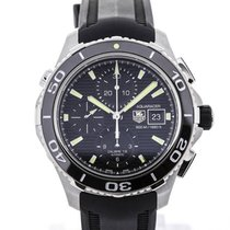 TAG Heuer Aquaracer Chronograph Black Rubber Strap Black Dial...