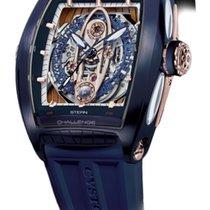 Cvstos Challenge GT Sealiner Men's Watch, Blue Steel with Red...