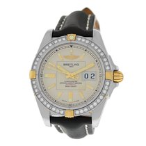 Breitling New Men's  Galactic B49350LA/G700 41MM Diamond Gold
