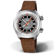 Oris Chronoris Brown Leather Strap Men's Watch 73377374053LS