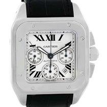 Cartier Santos 100 X-large Silver Dial Chronograph Watch W20090x8