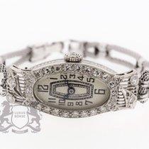 Art Deco Ladies Cocktail Watch solid Platinum Diamonds Watch