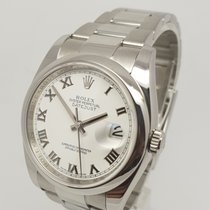 Rolex Datejust White Roman Dial116200 Stainless Steel Watch 2011
