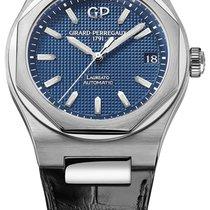 Girard Perregaux Steel Automatic Blue 42mm new Laureato