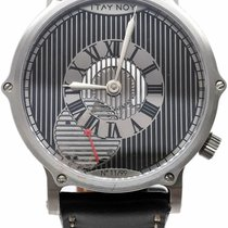 Itay Noy pre-owned Manual winding 41.6mm Silver Sapphire Glass 5 ATM