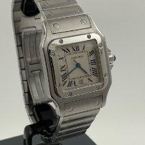 Cartier 29mm Quarz 2006 gebraucht Santos Galbée Weiß