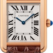 Cartier new Quartz 31mm Rose gold Sapphire crystal